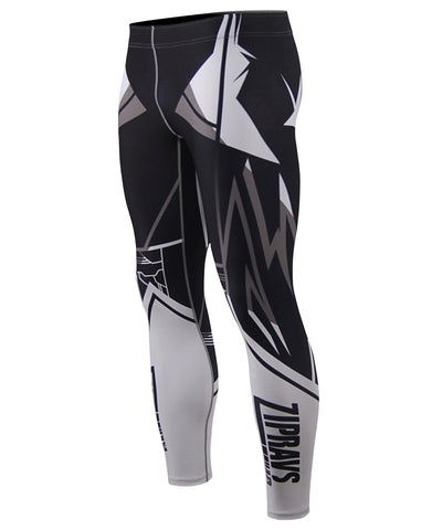 white compression tight pants
