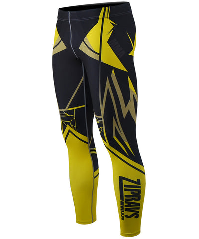 yellow compression tight leggings