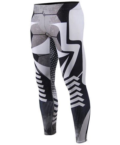 white stripe compression tight leggings