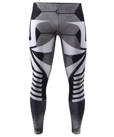 white line bjj mma training sports leggings