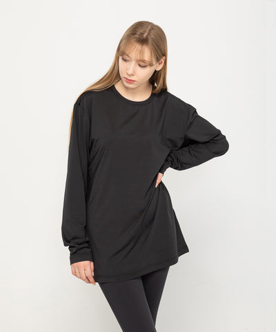 black loose fit long sleeve summer rashguard