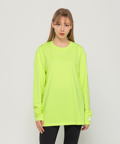 green loose fit long sleeve  t-shirt