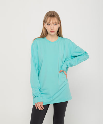 mint loose fit tops rashguard