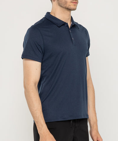 navy zipravs essentials men's tech stretch polo shirt