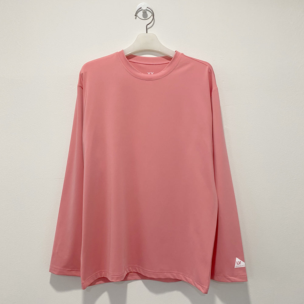 Pink long sleeve loosefit overfit rash guard