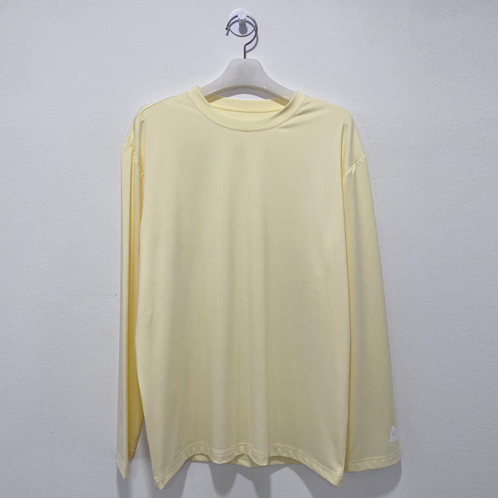 Light yellow long sleeve loosefit overfit rash guard