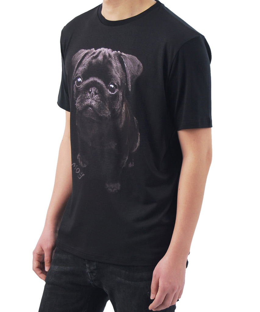 Heat transfer print puppy design short sleeve