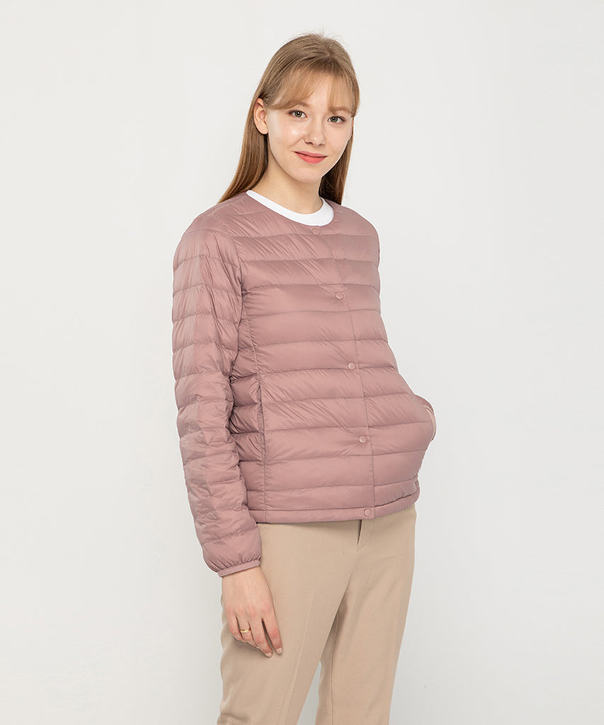 womens down jacket pink