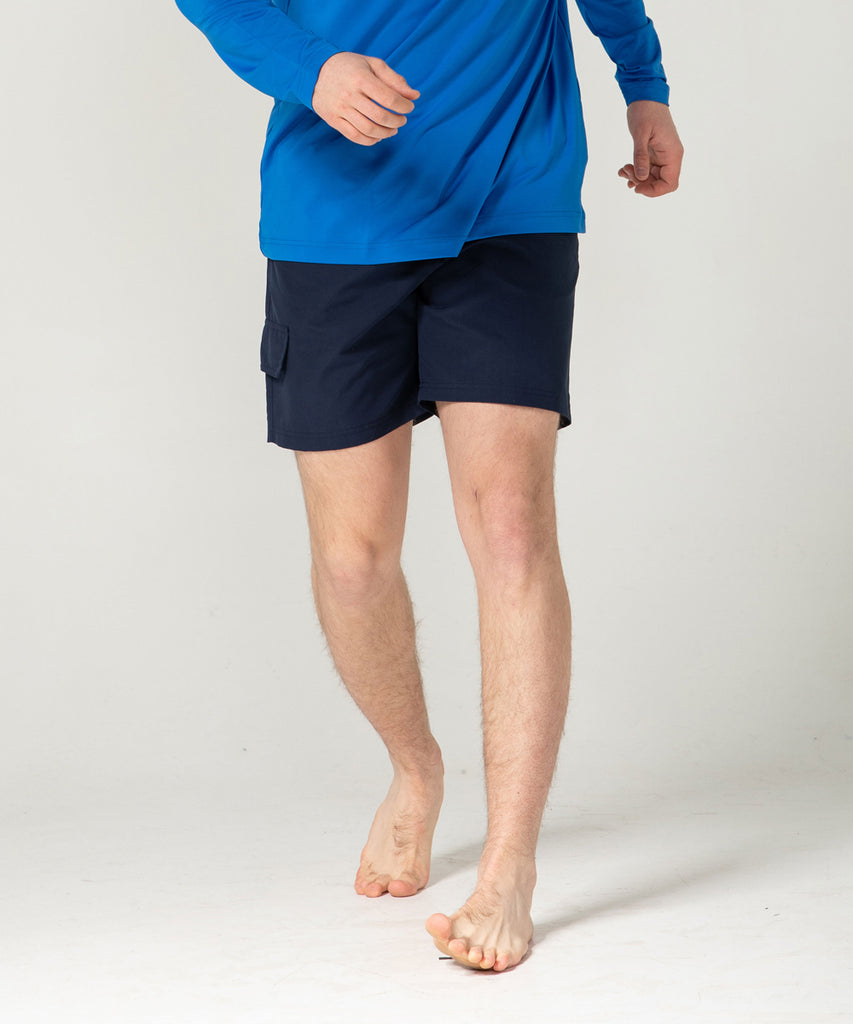 navy 100% polyester short pants