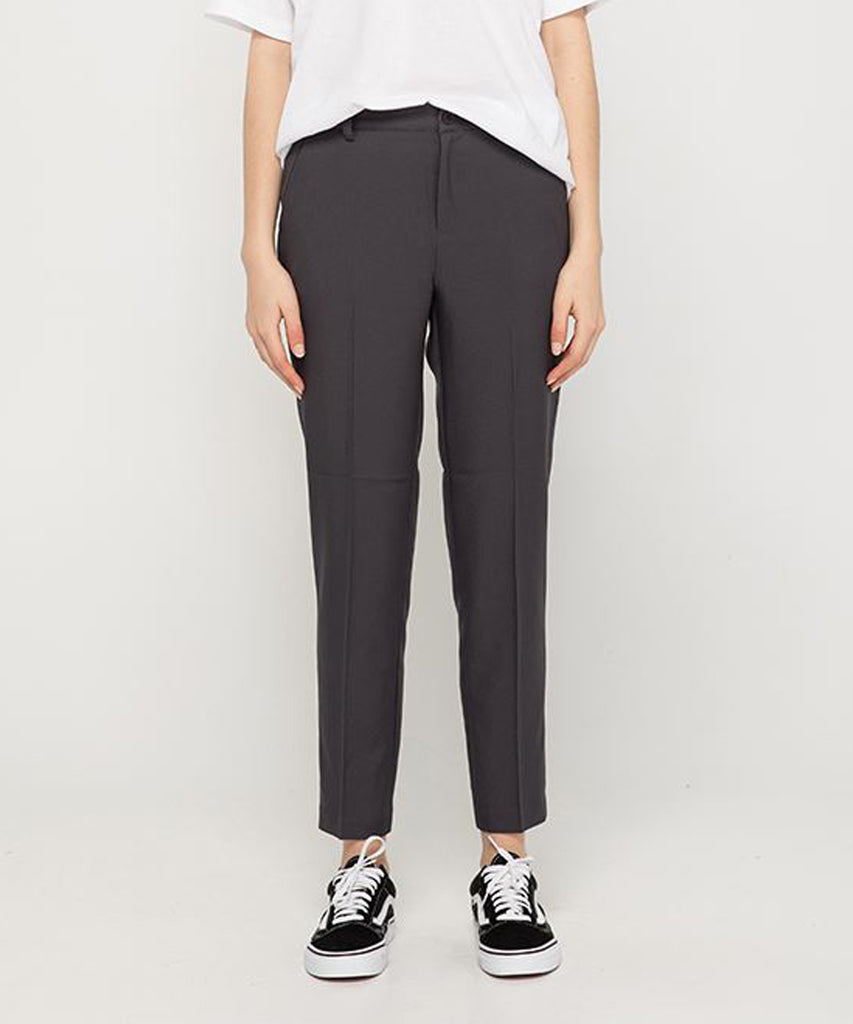 charcoal straight fit women slacks