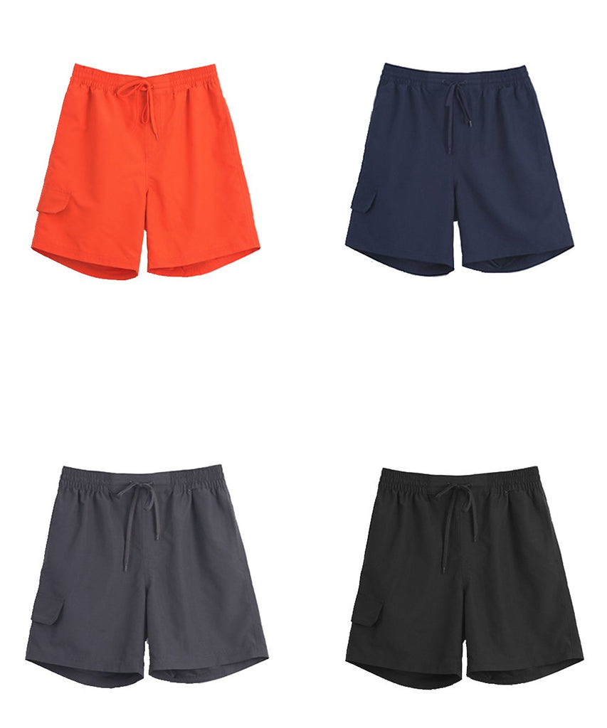 charcoal&navy&black&orange light weight shorts