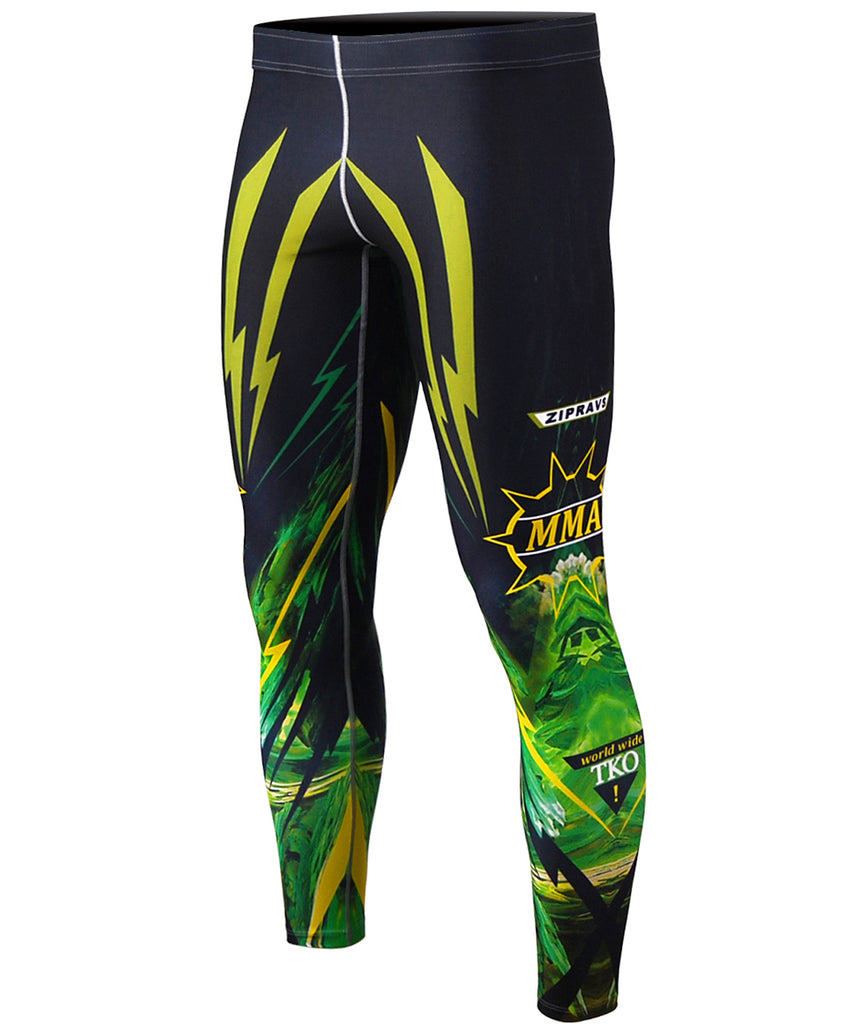 green&yellow compression tights