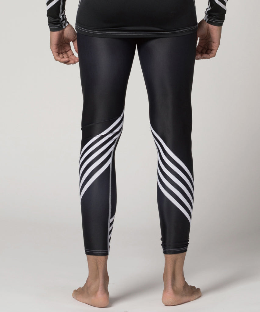 "white stripe&big size number ""91"" bjj compression tights"
