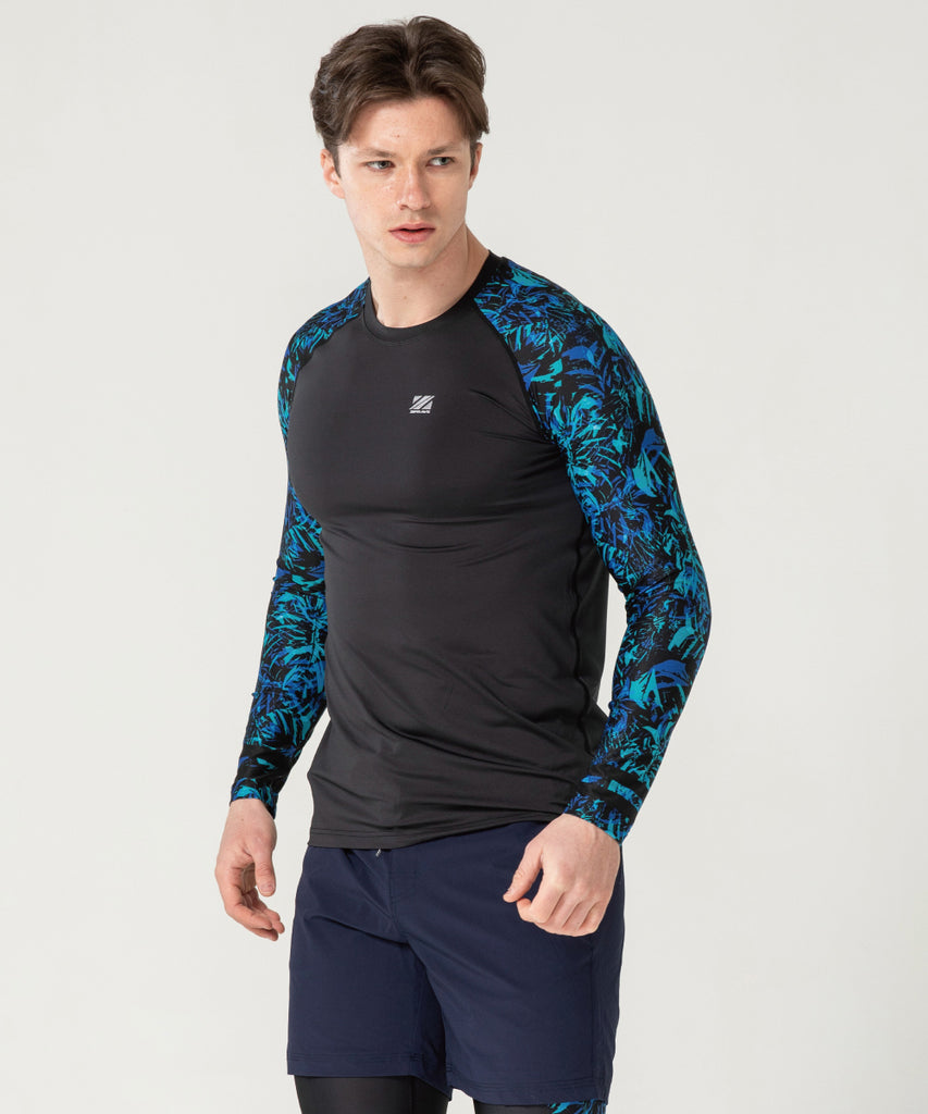 compression long sleeve blue color