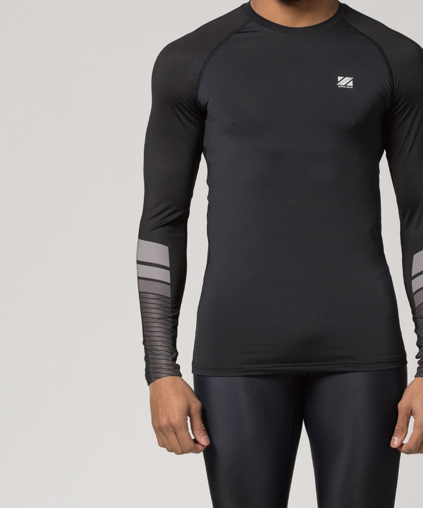black compression shirt long sleeve