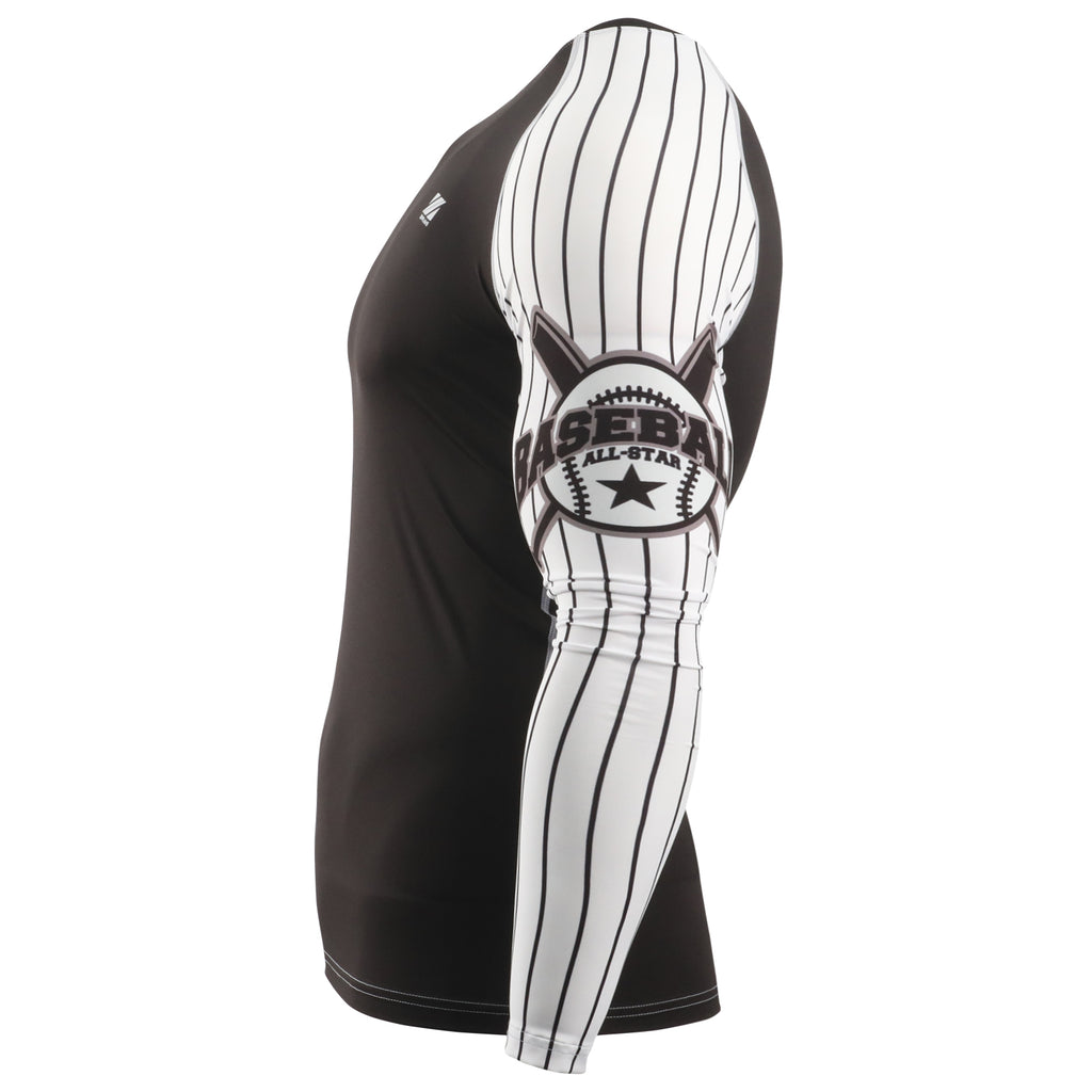 baseball compression shirt long sleeve front