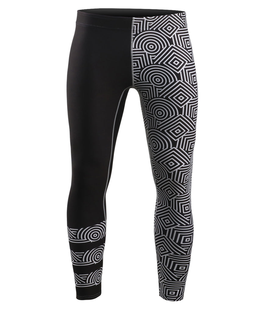 Compression tight leggings geometrical design