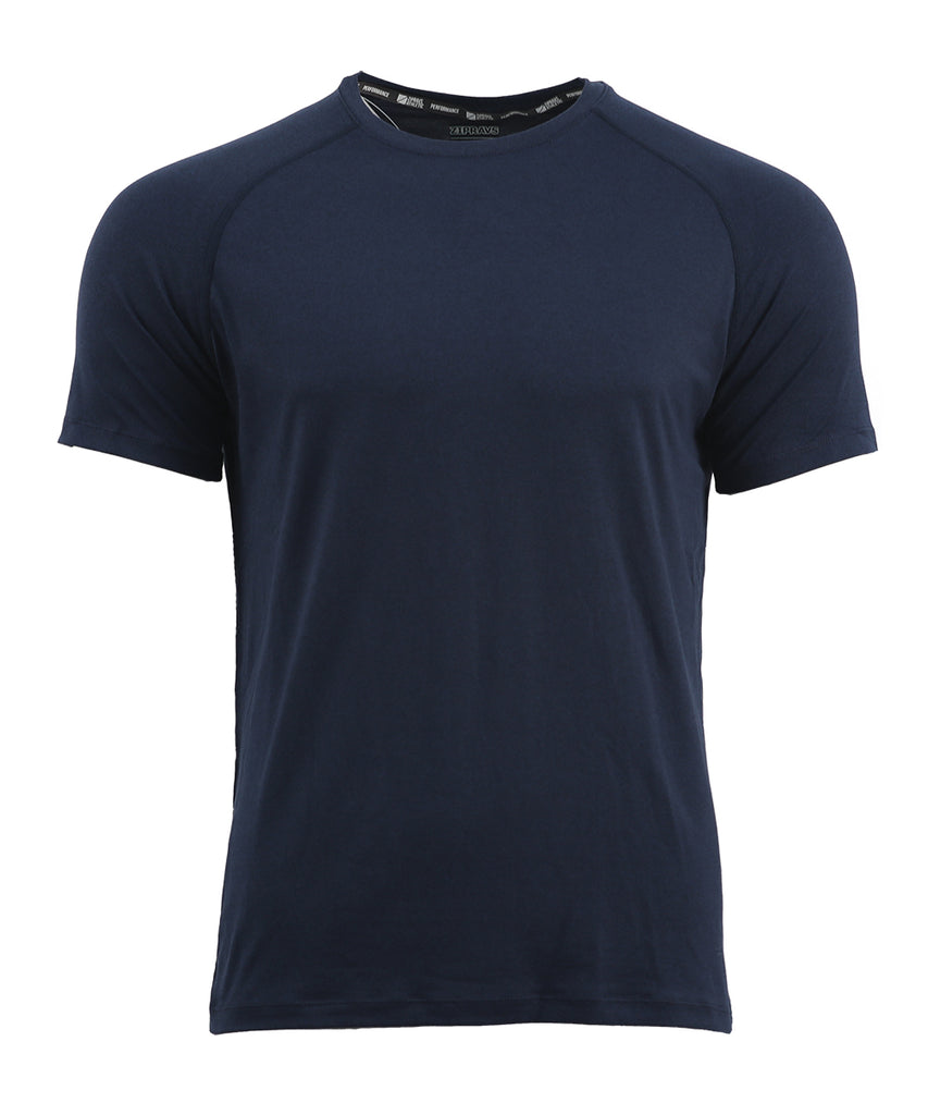 mens recycled polyester t shirt NAVY