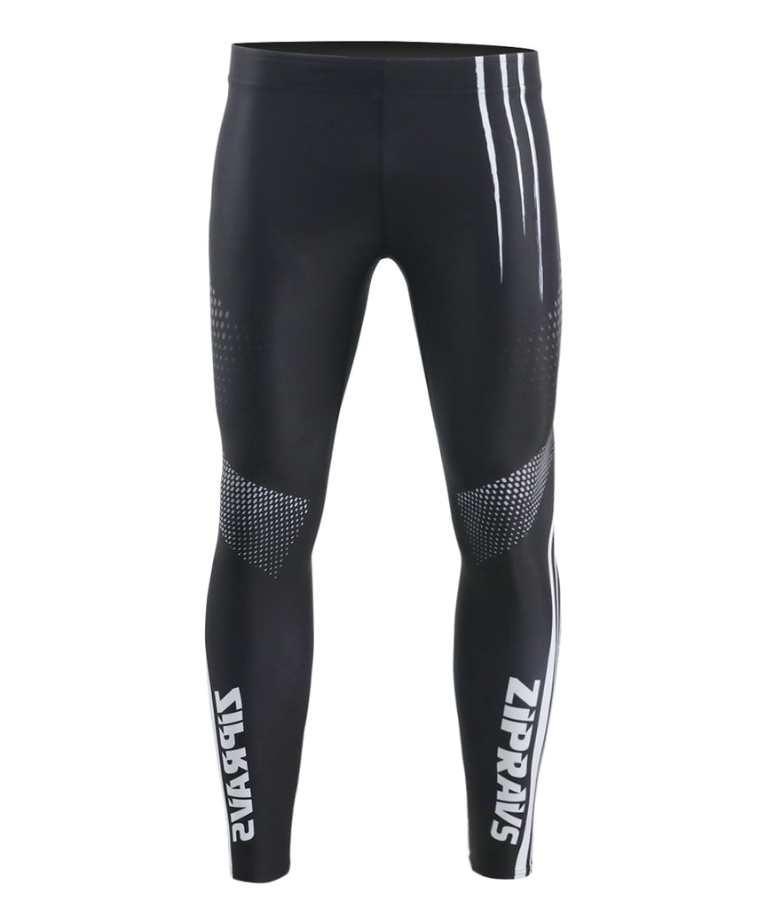 Black powerlifting compression tight pants dot&line design