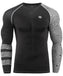 Geometrical pattern black compression long sleeve