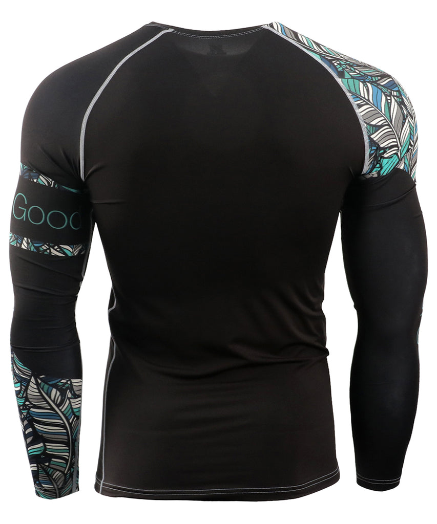 leaf design surf long sleeves