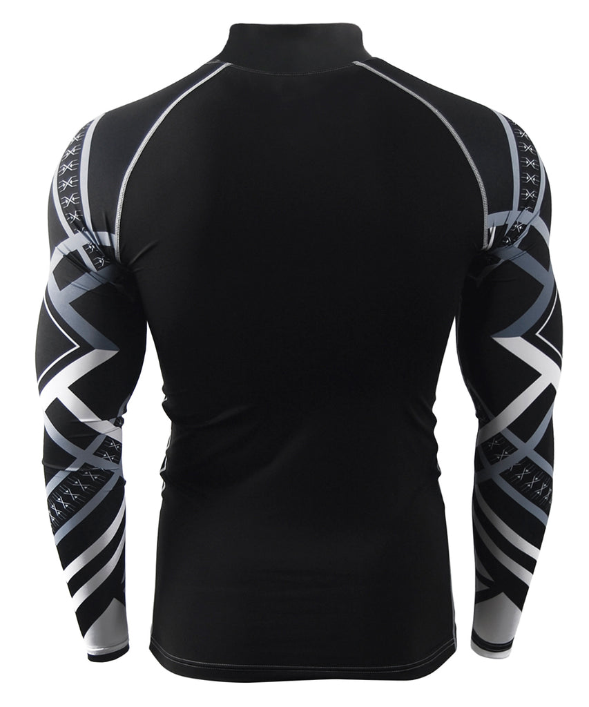 white line compression fit rash guard
