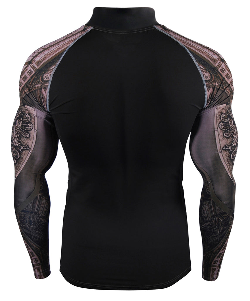 knight armor compression tight fit rashguard