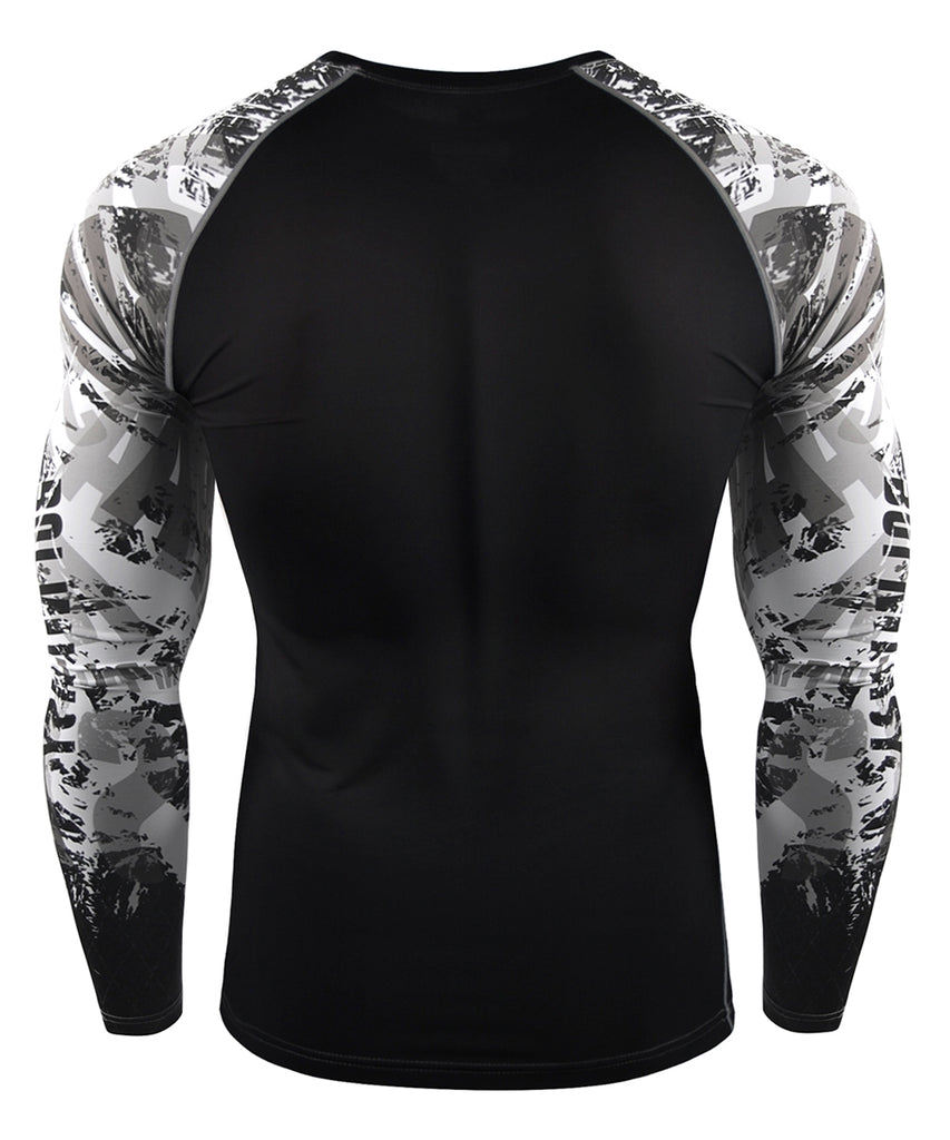 Typographic Design Long Sleeve Compression
