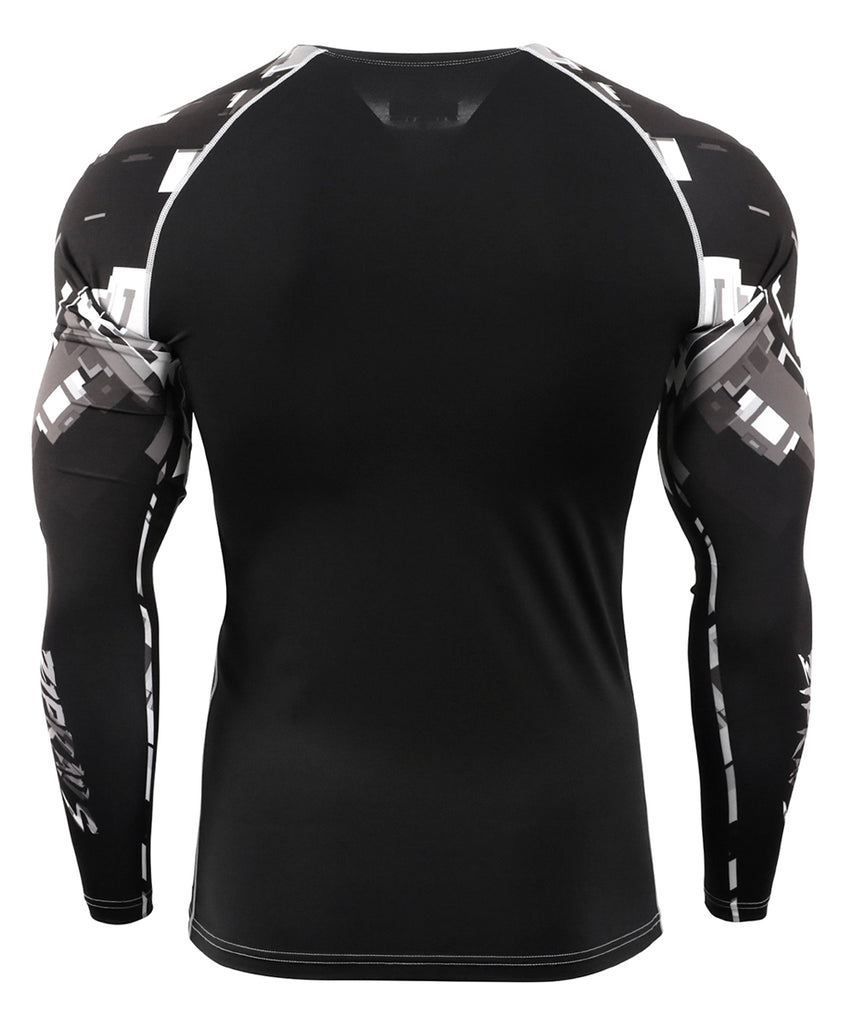 Black&White Piece Tight Long Sleeve