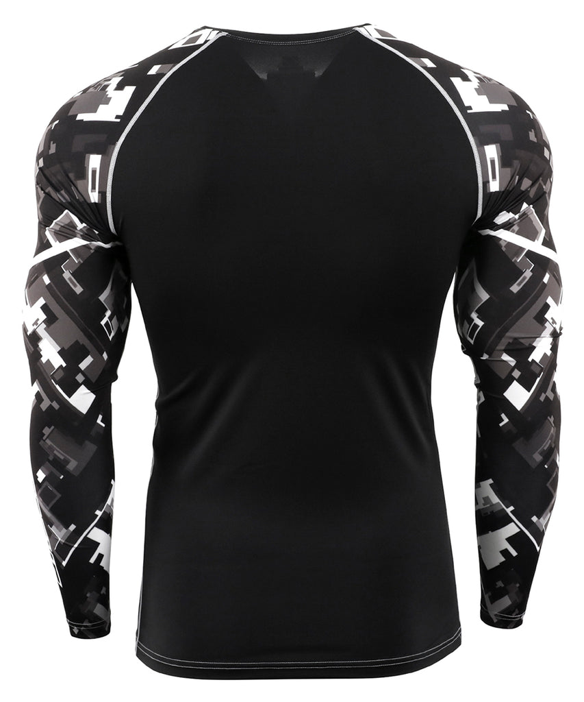 Black&White Piece Full Tight Shirt