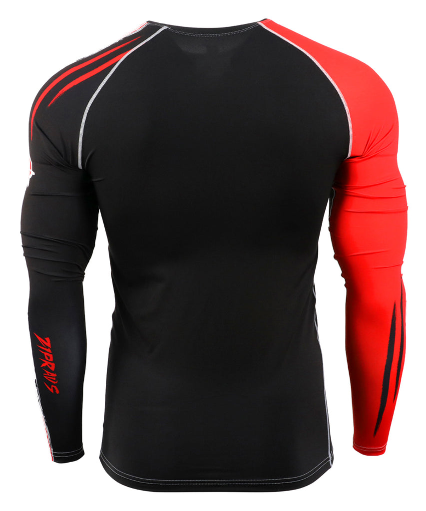 White&Red Surf Rashguard