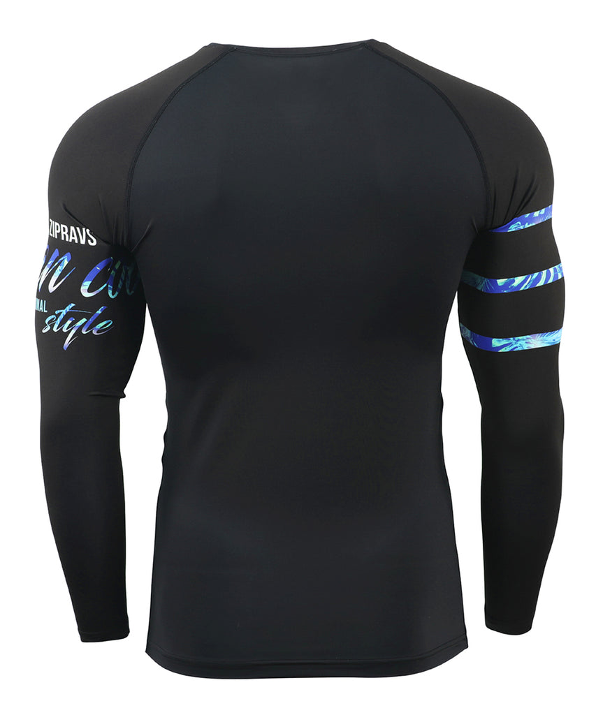 Blue Surf Rashguard Long Sleeve