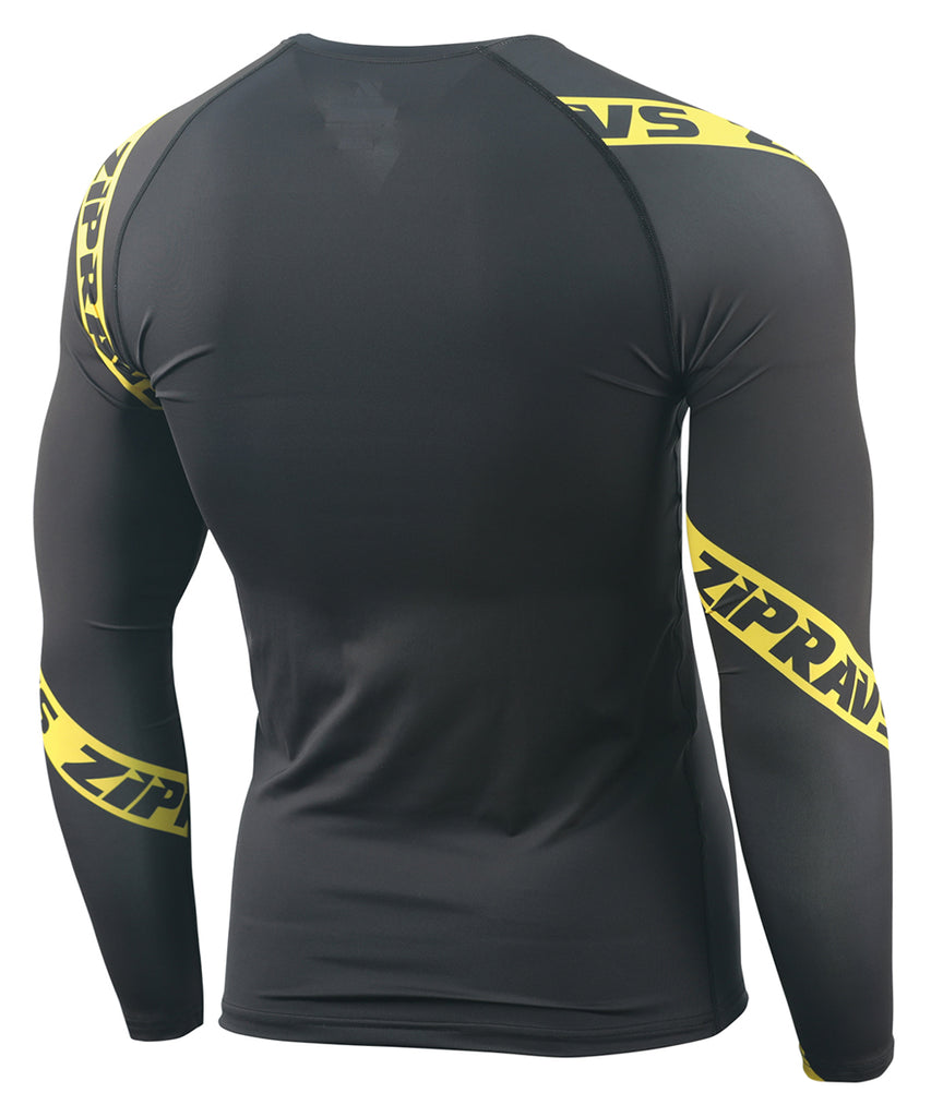 yellow line design compression shirts