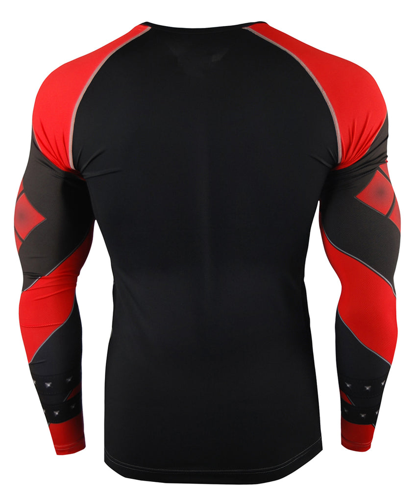 Red Long Sleeve Compression Gear