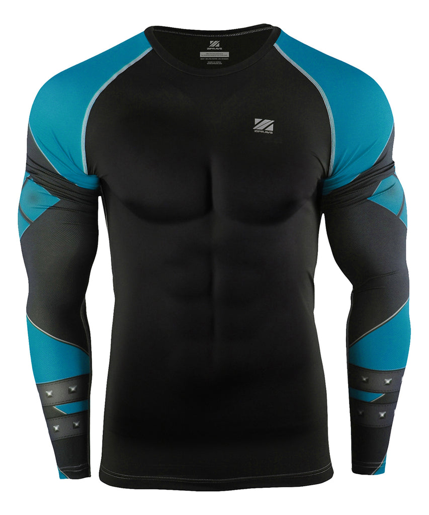 Blue Long Sleeve Compression Gear
