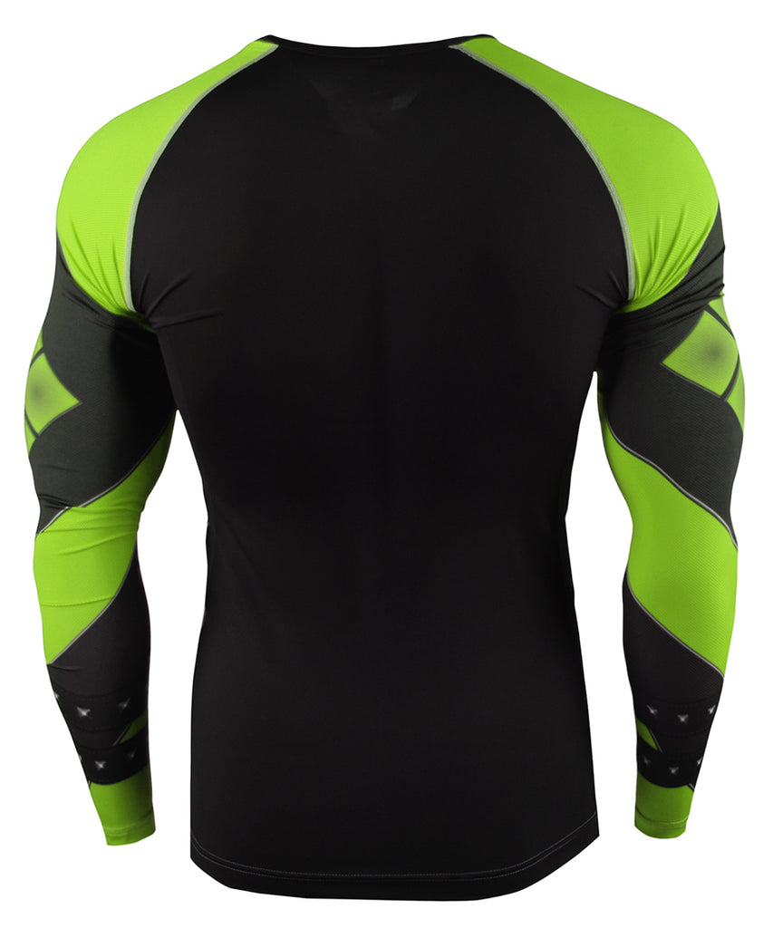 Green Long Sleeve Compression Gear