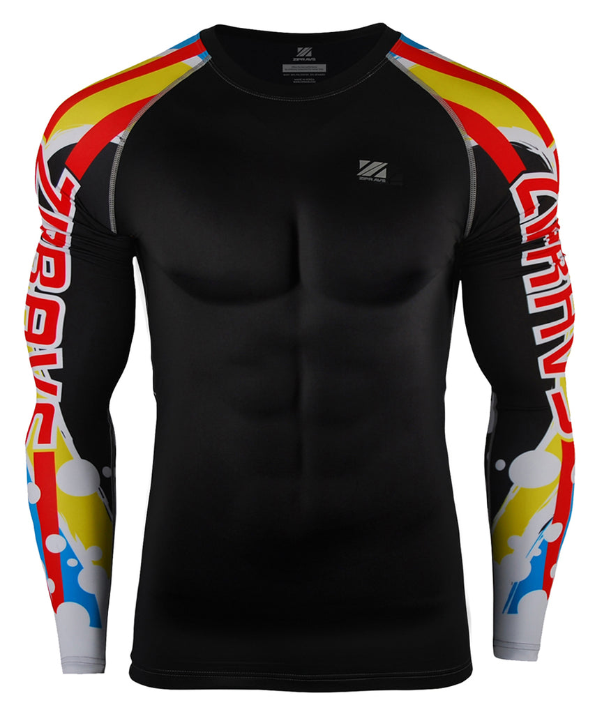 Blue&Red&Yellow Tight Fit Compression