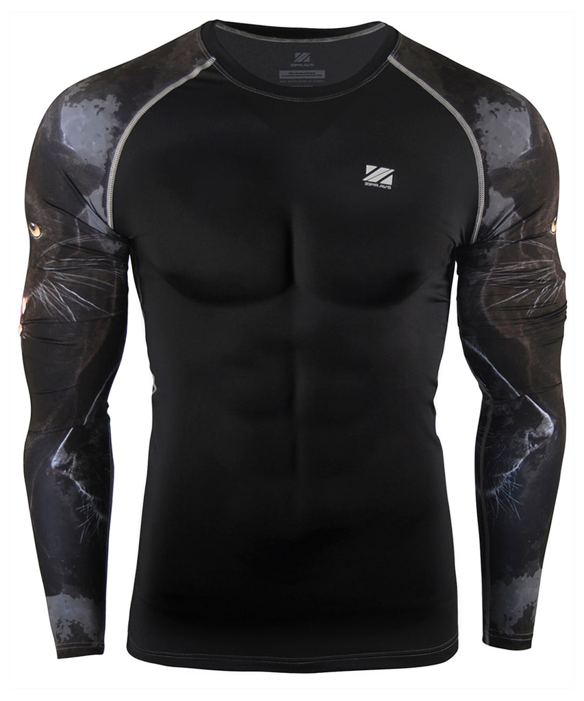 Black and Gray Wild Beast Compression Shirt
