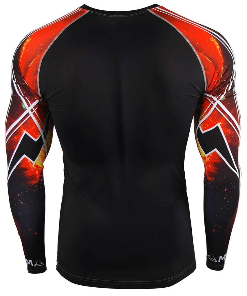 Hot Red Space Design Compression Top