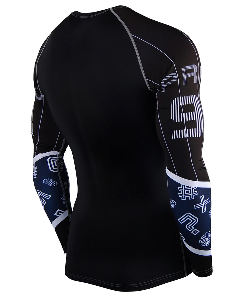 Blue Shape Design Long Sleeves