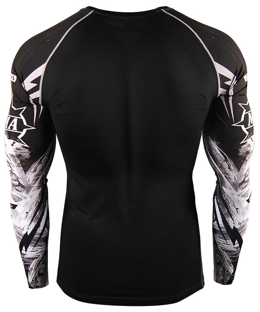 Gray Long Sleeve Compression Tee