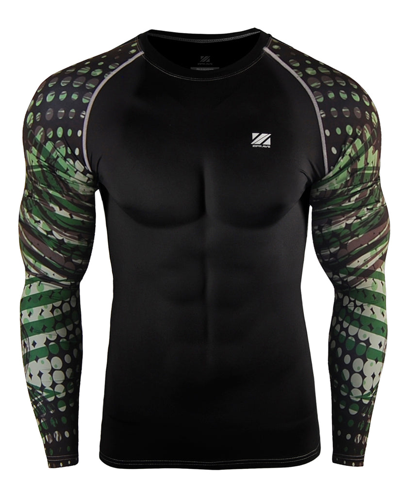 Green&Black Dot Long Sleeve