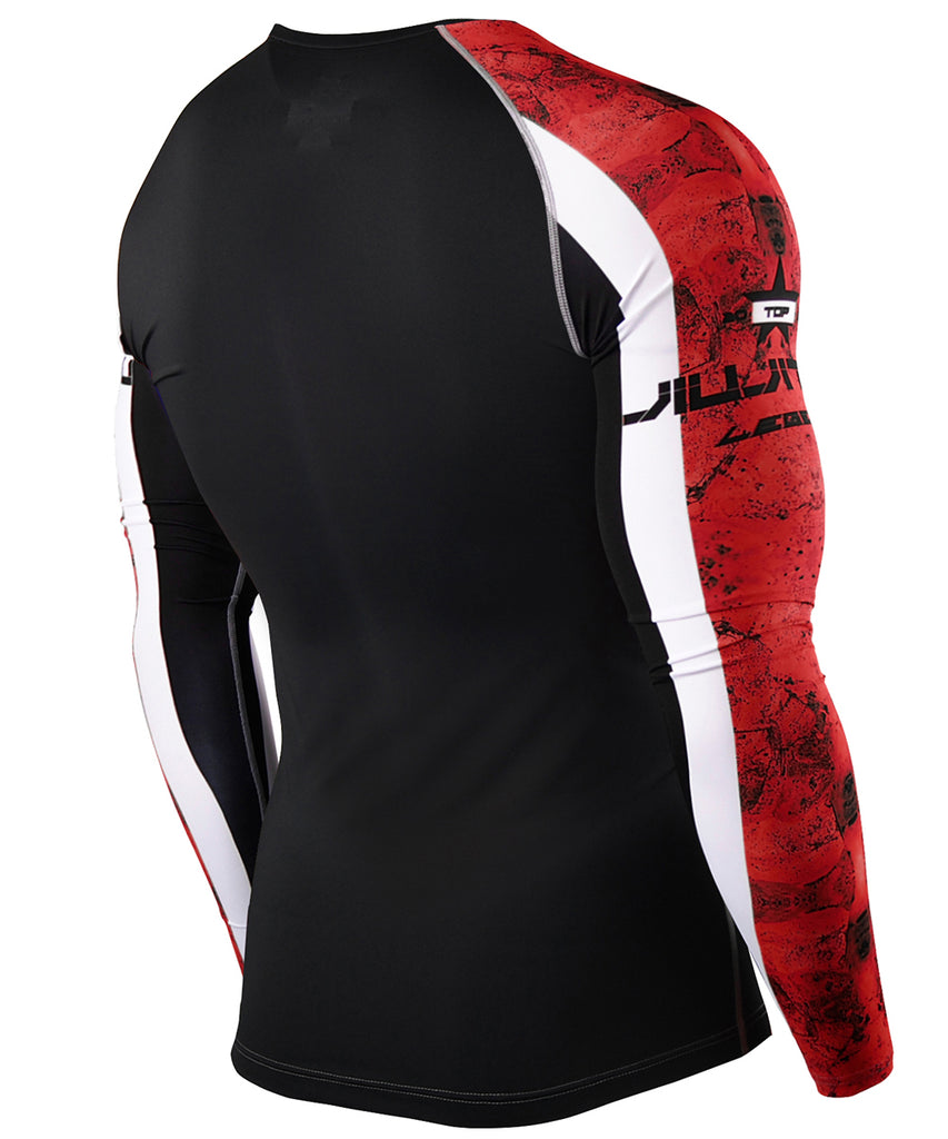Red Athletic Compression Tee