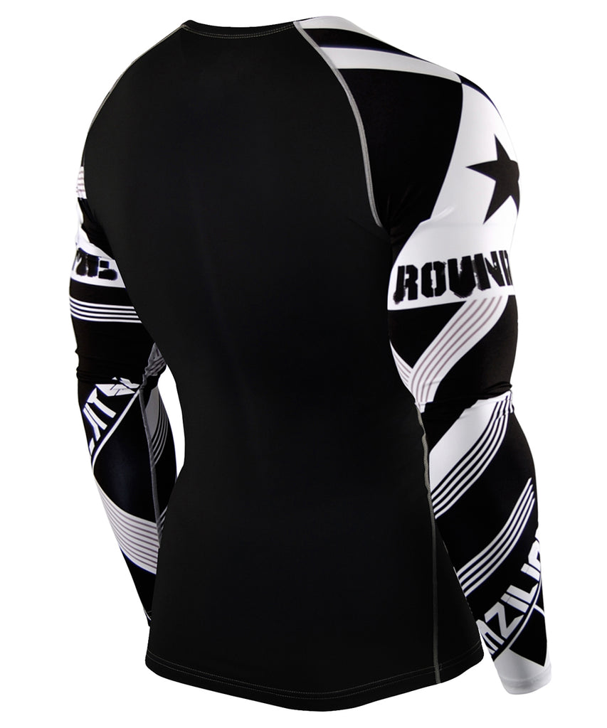 Big Size Star & White Stripe Tight Long Sleeve