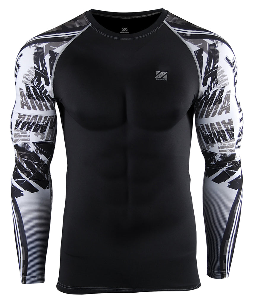 White&Camo Pattern Design Compression wear
