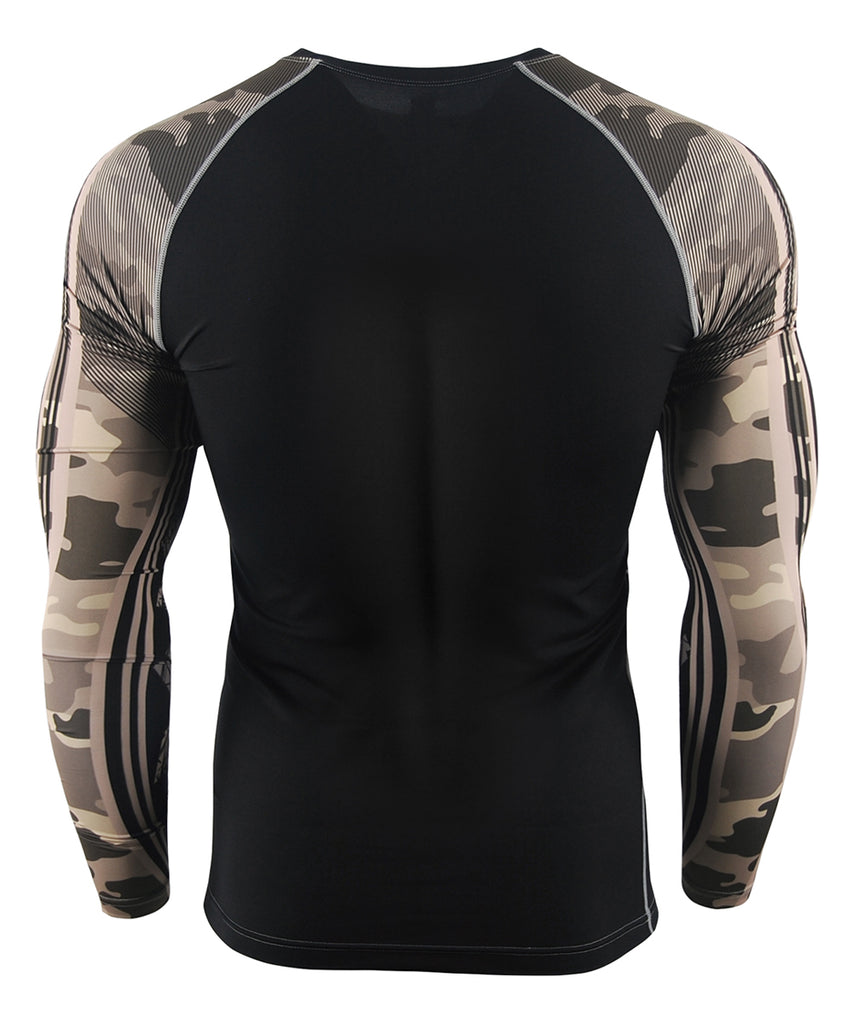 Light Brown&Camo pattern Design Compression wear