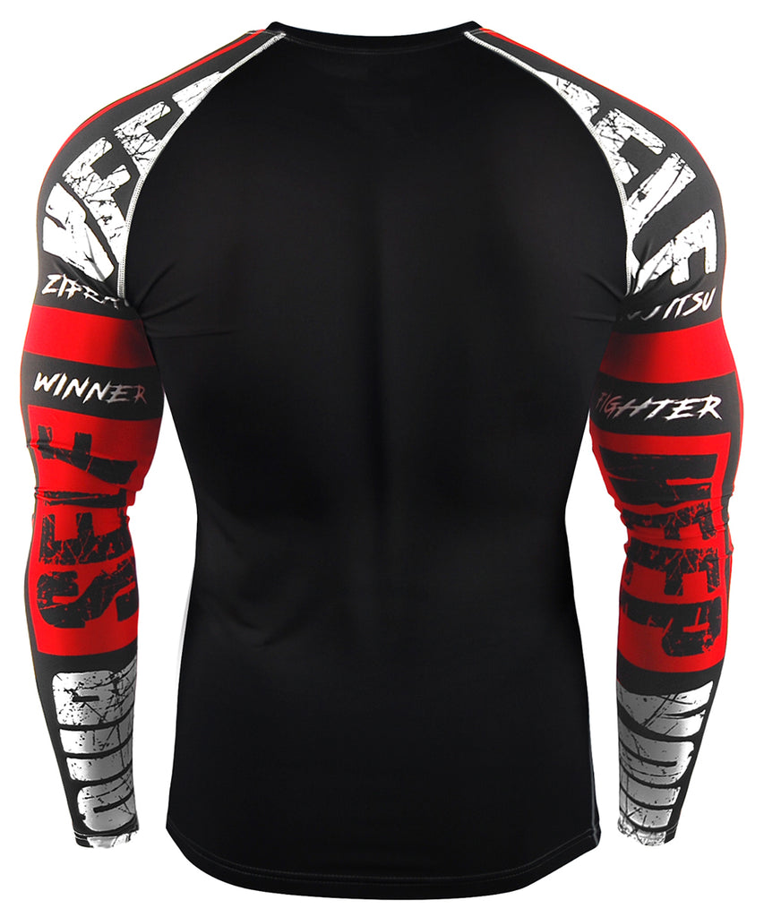 red compression gymwear long sleevev
