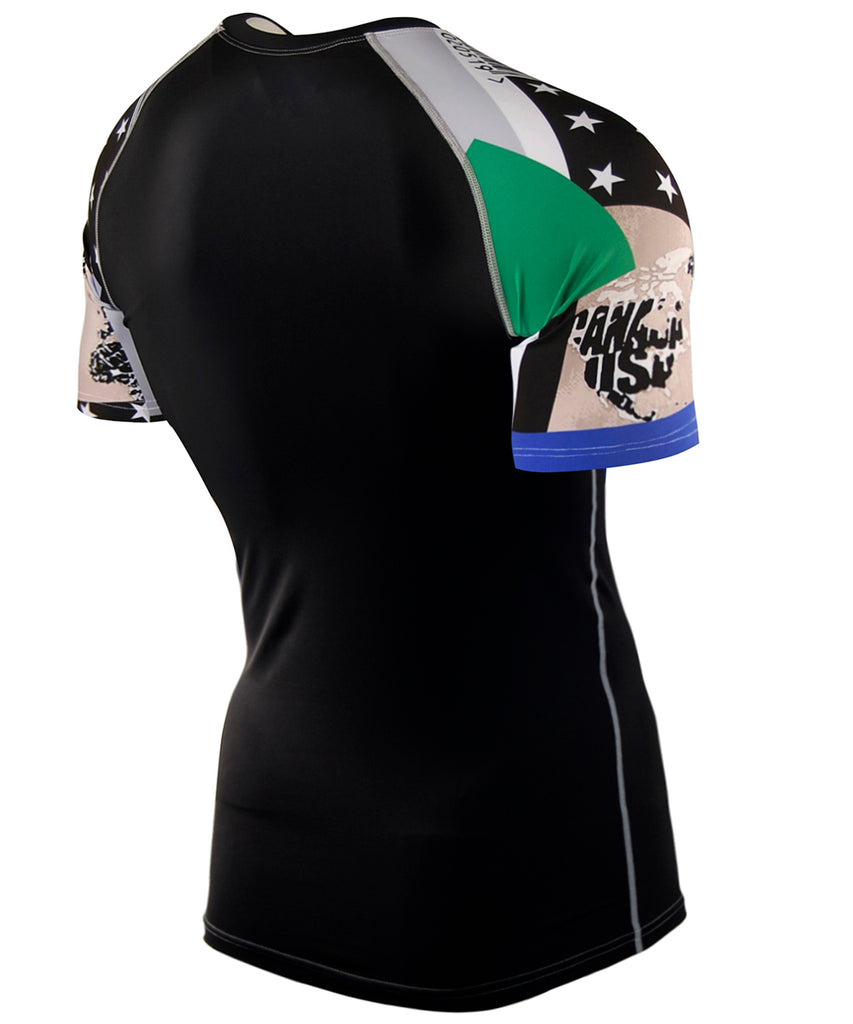 green compression short sleeve rashguard