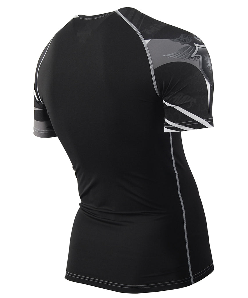 black compression short sleeve