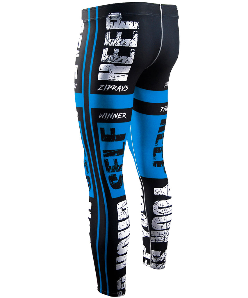 blue compression active performance tights